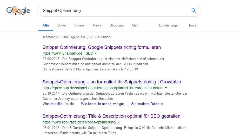 Snippets Optimierung: Mehr Text auch gleich mehr Klicks?
